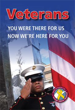 Veterans - You were there for us, no we're here for you.