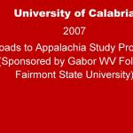 University of Calabria 2007