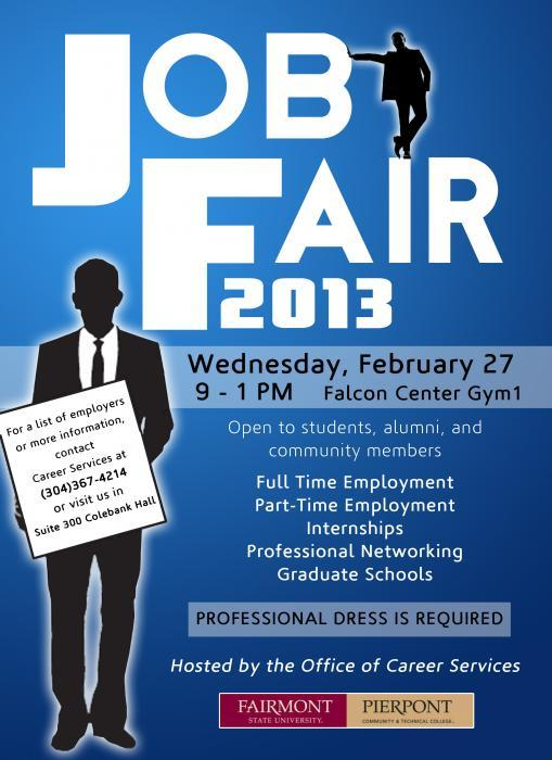 job expo career fair poster template design party