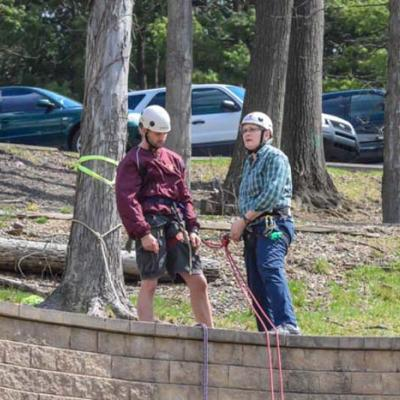 Rappelling Instruction at Fairmont State University